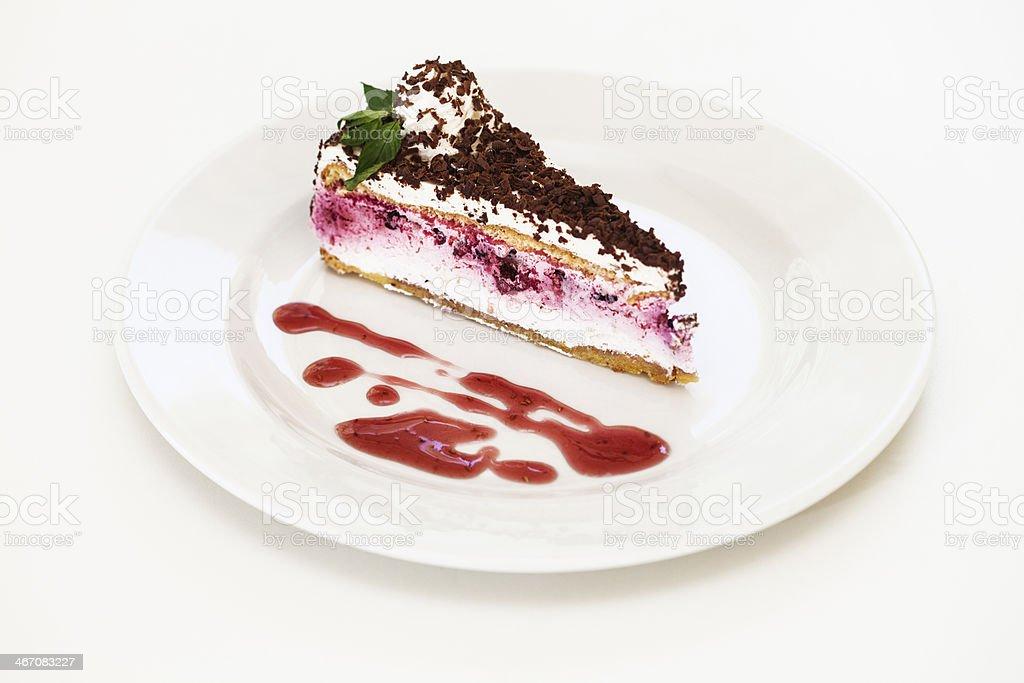Strawberry chocolate cake royalty-free stock photo