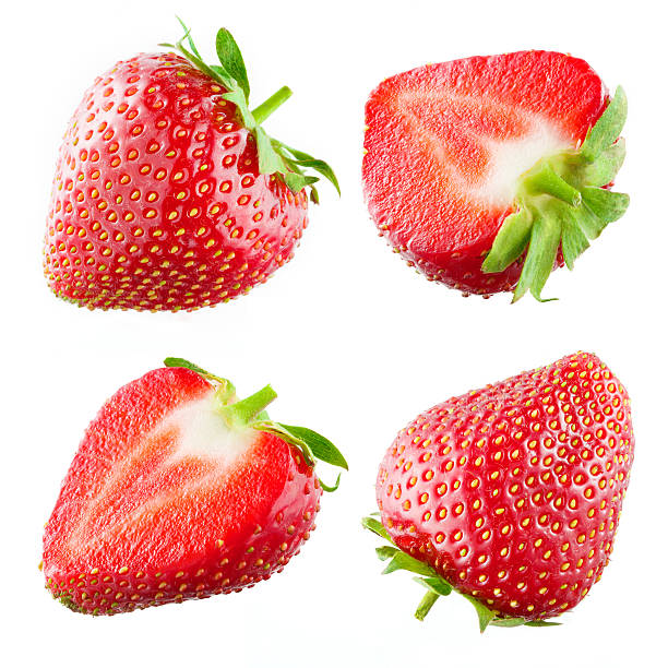 Strawberry. Collection isolated on white foto