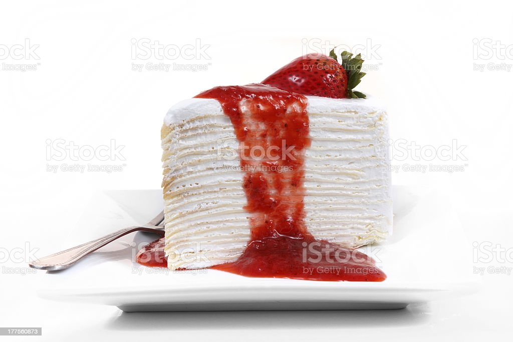 Strawberry crape cake royalty-free stock photo