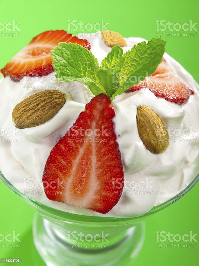 Strawberry cream royalty-free stock photo