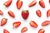 Strawberry creative pattern.