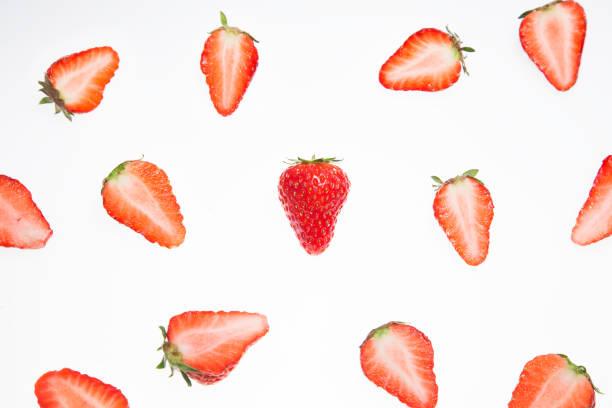 Strawberry creative pattern stock photo