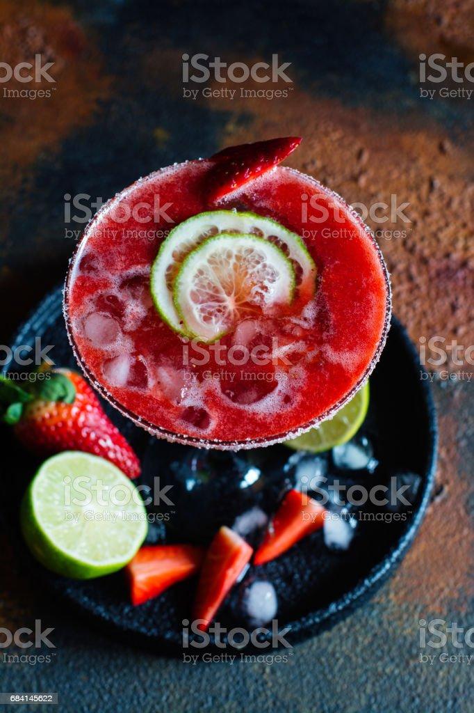 Strawberry daiquiri cocktail foto stock royalty-free