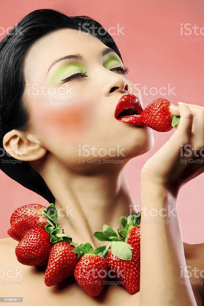 Strawberry delight royalty-free stock photo