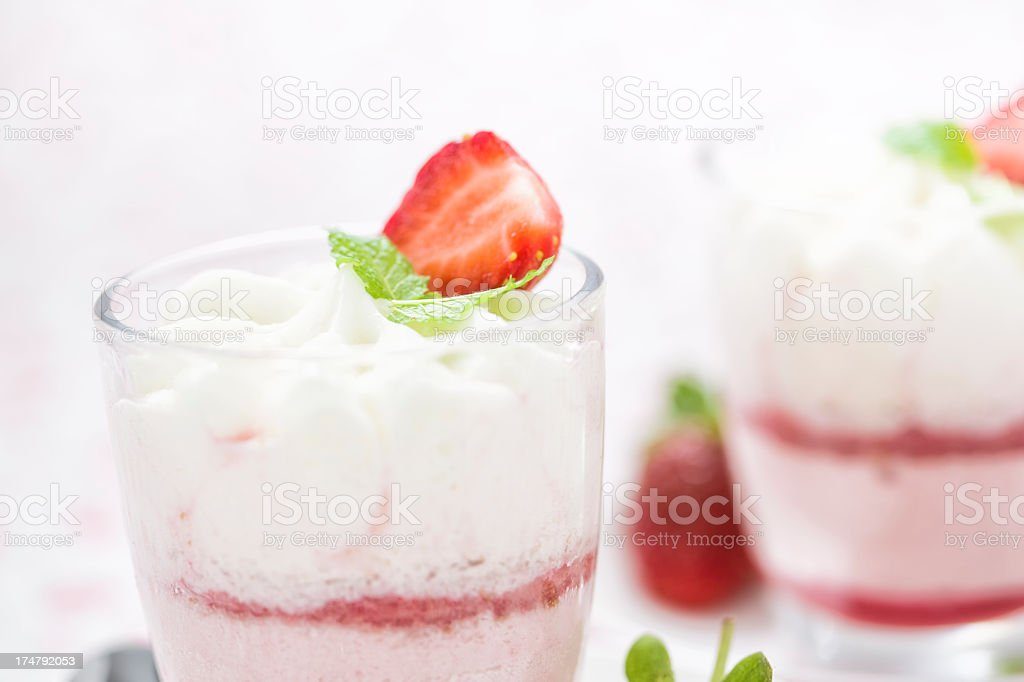 Strawberry Dessert royalty-free stock photo