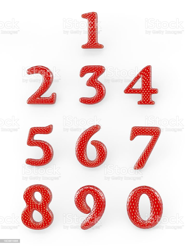 Strawberry digits stock photo