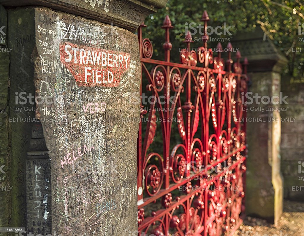 Strawberry Field Gates in Liverpool royalty-free stock photo