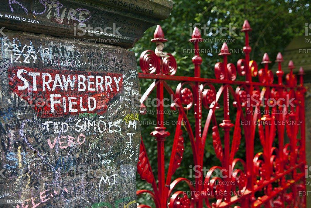 Strawberry Field in Liverpool stock photo