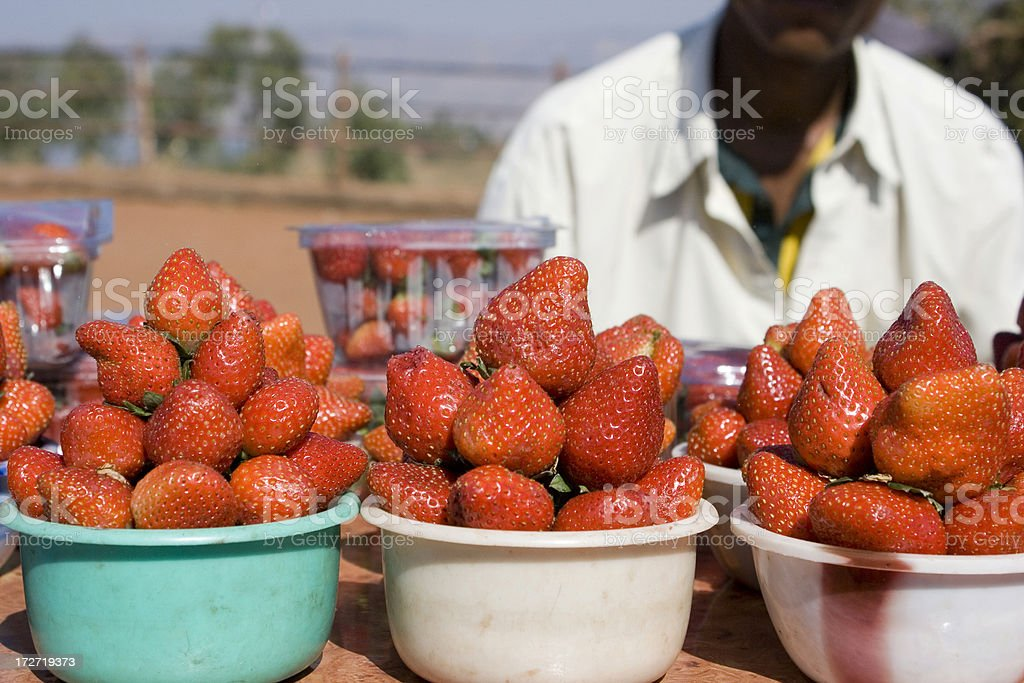 Strawberry for sale in India royalty-free stock photo