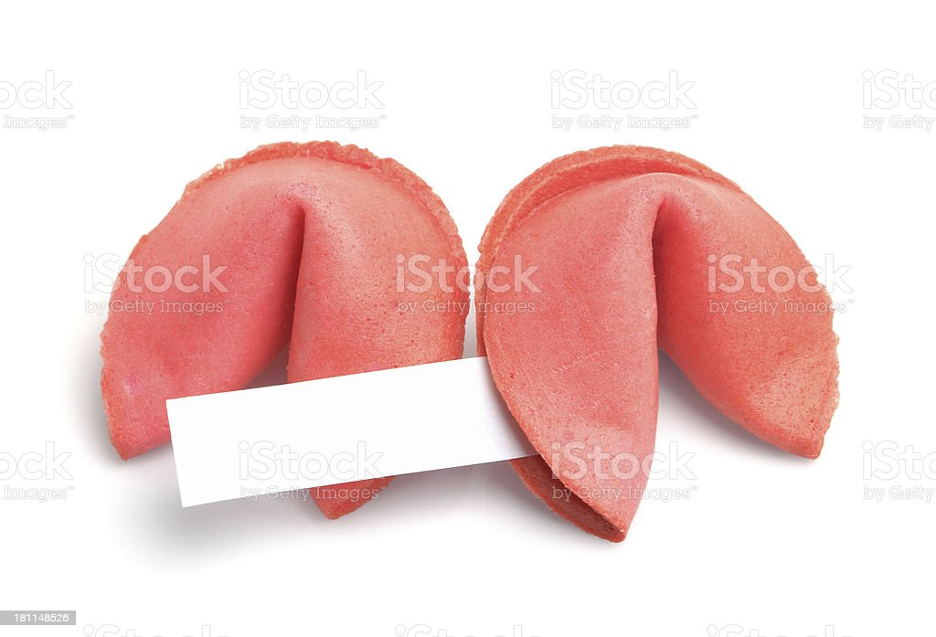 Strawberry Fortune Cookies royalty-free stock photo