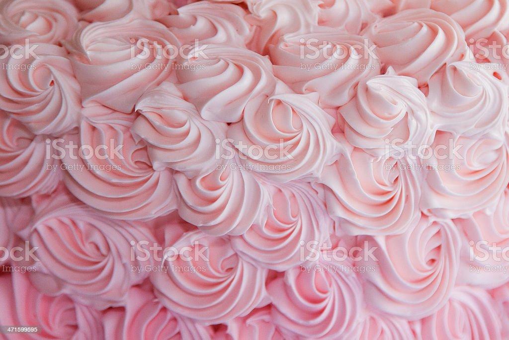 Strawberry Frosting Swirls stock photo