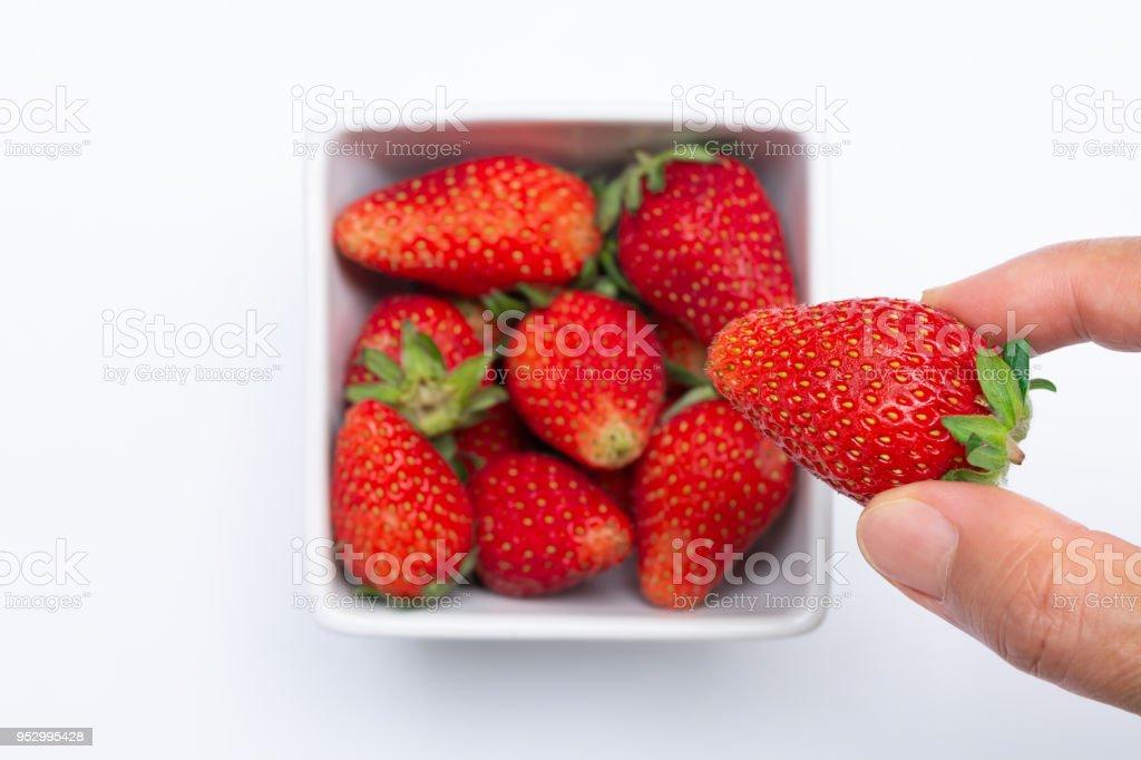 Strawberry fruit. stock photo