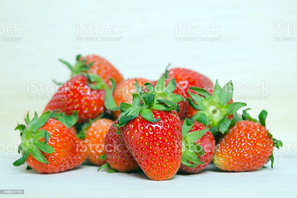 Strawberry fruit with flash filled royalty-free stock photo