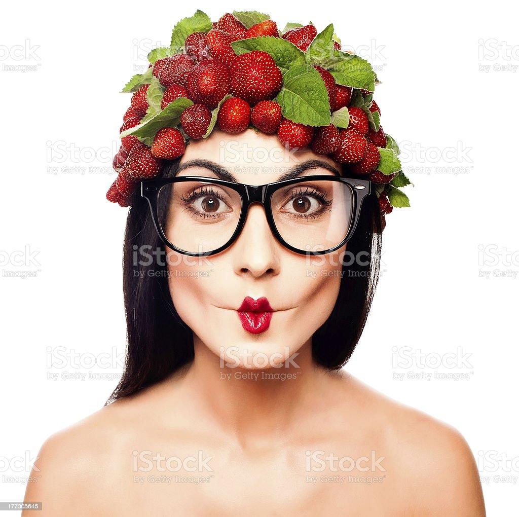 Erdbeer-Mädchen – Foto