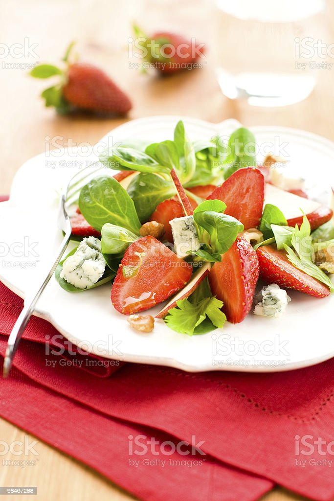 strawberry gorgonzola salad royalty-free stock photo