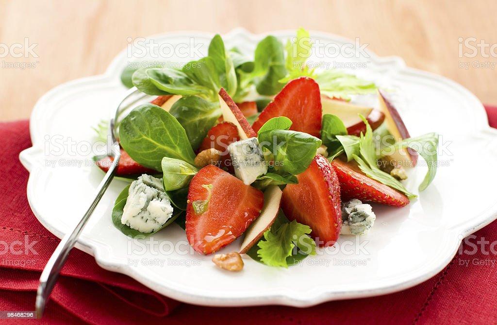 strawberry gorgonzola salad royalty-free stock photo
