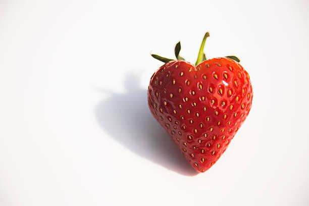 Strawberry Heart stock photo