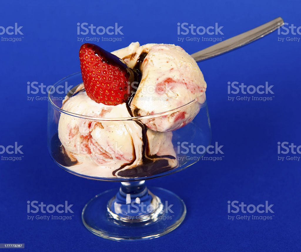 strawberry ice cream stock photo