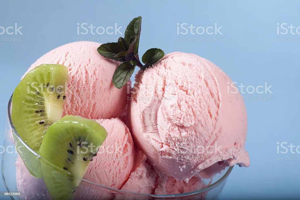 Strawberry Ice Cream royalty-free stock photo