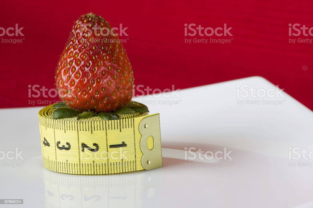 Strawberry in a plate royalty-free stock photo