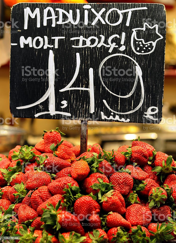 Strawberry in the Market royalty-free stock photo