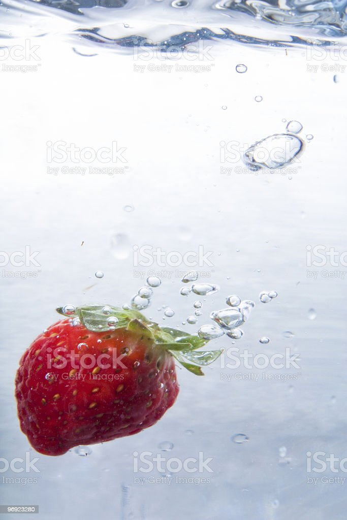 Strawberry in Water royalty-free stock photo