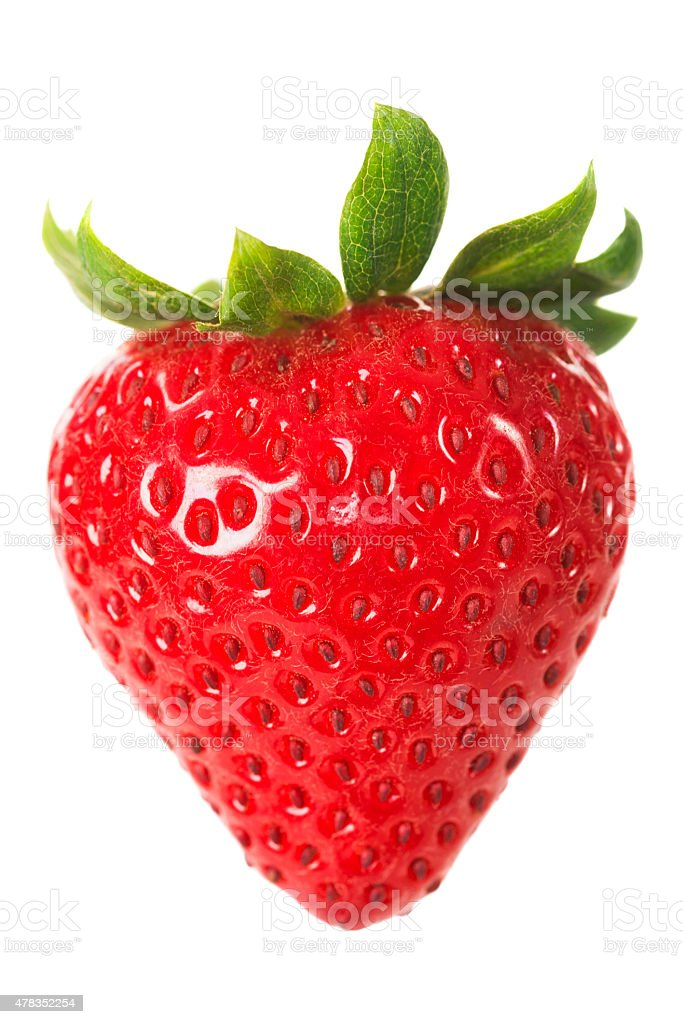 Strawberry isolated against a white background stock photo