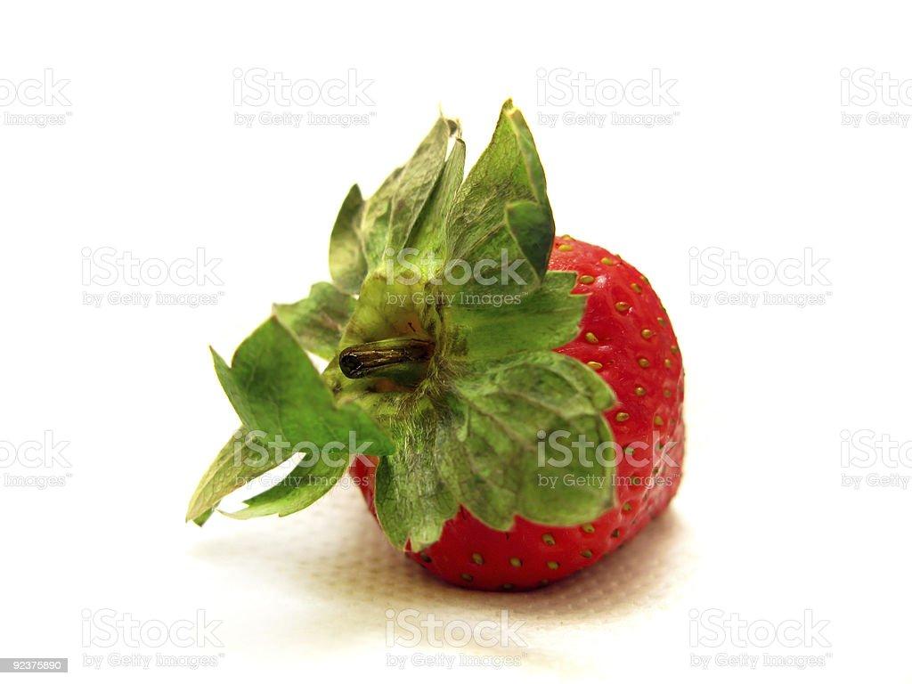 Strawberry Isolated on White royalty-free stock photo