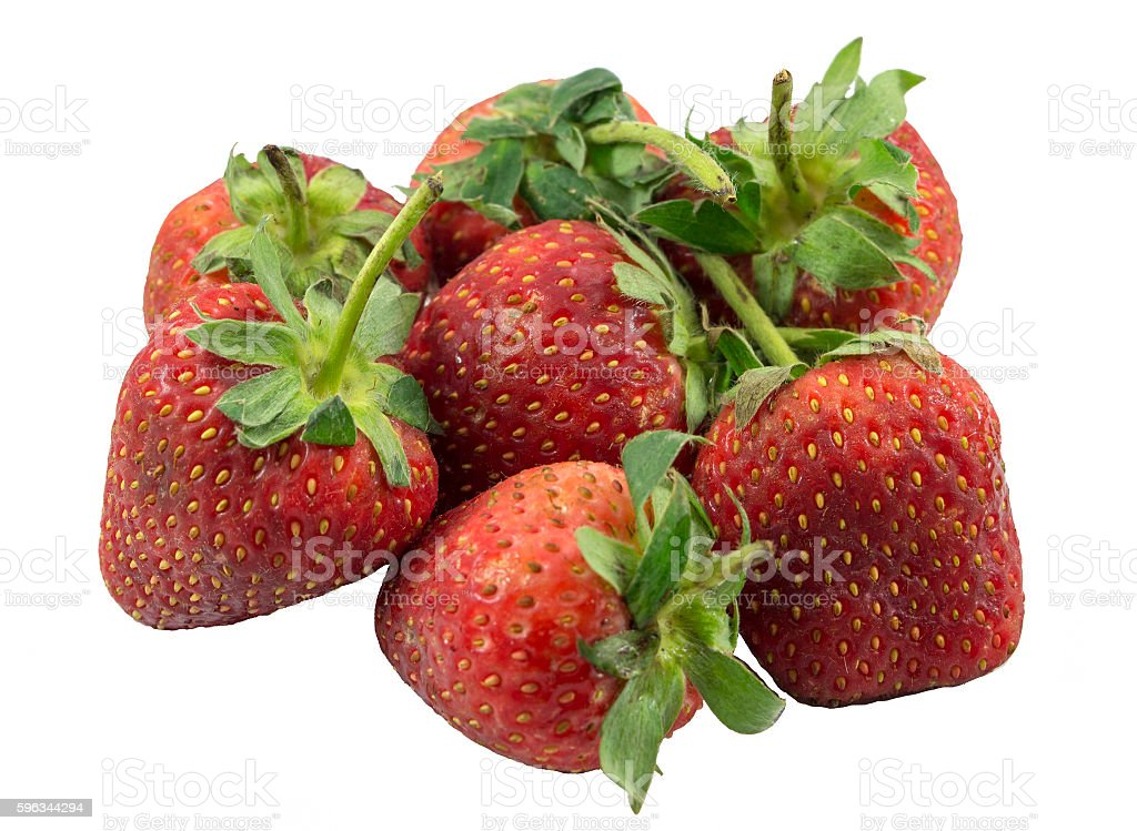 Strawberry isolated royalty-free stock photo