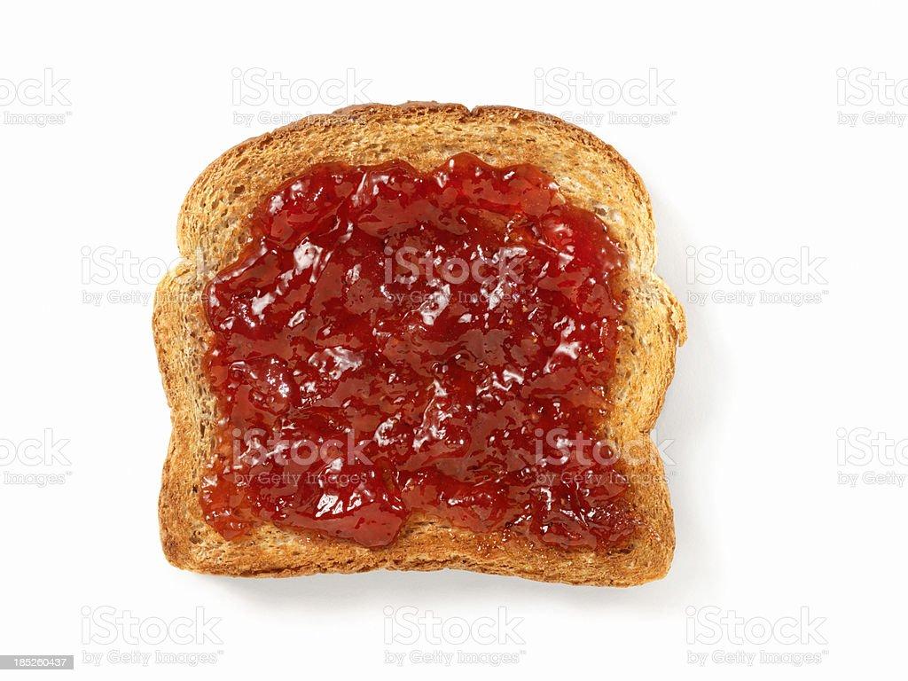 Strawberry Jam on Toast stock photo