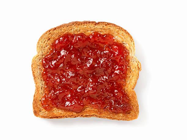 Confiture de fraises sur un Toast - Photo
