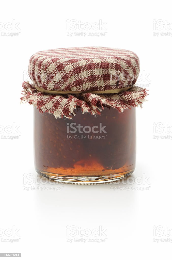 Strawberry jam stock photo