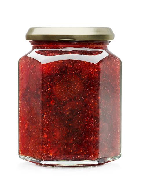 compota de morango - jam jar imagens e fotografias de stock
