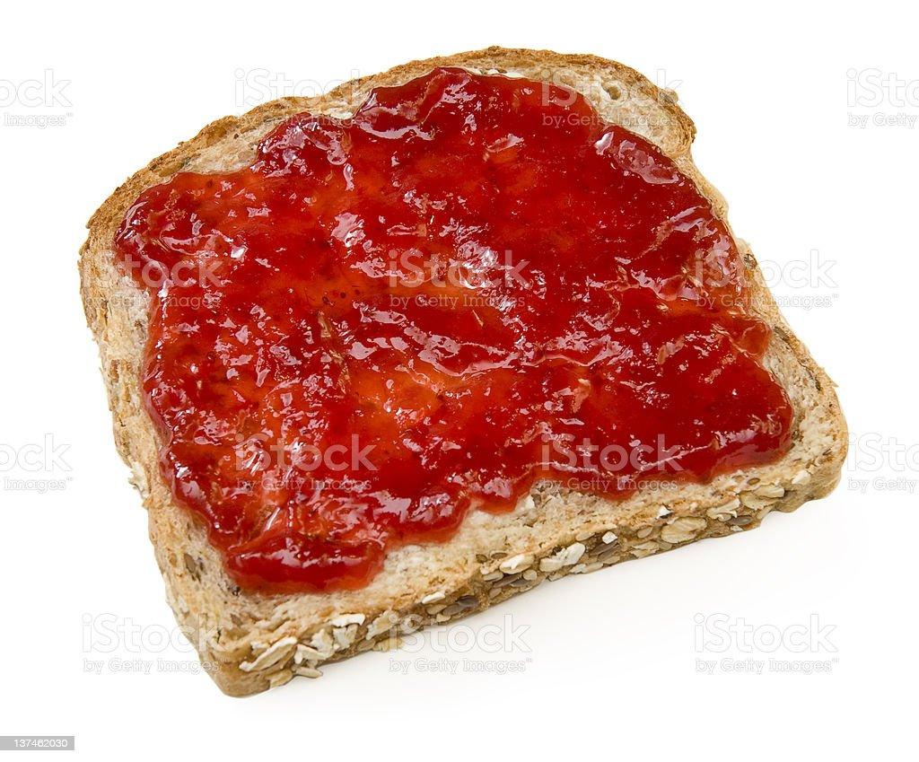 Strawberry jam sandwich royalty-free stock photo