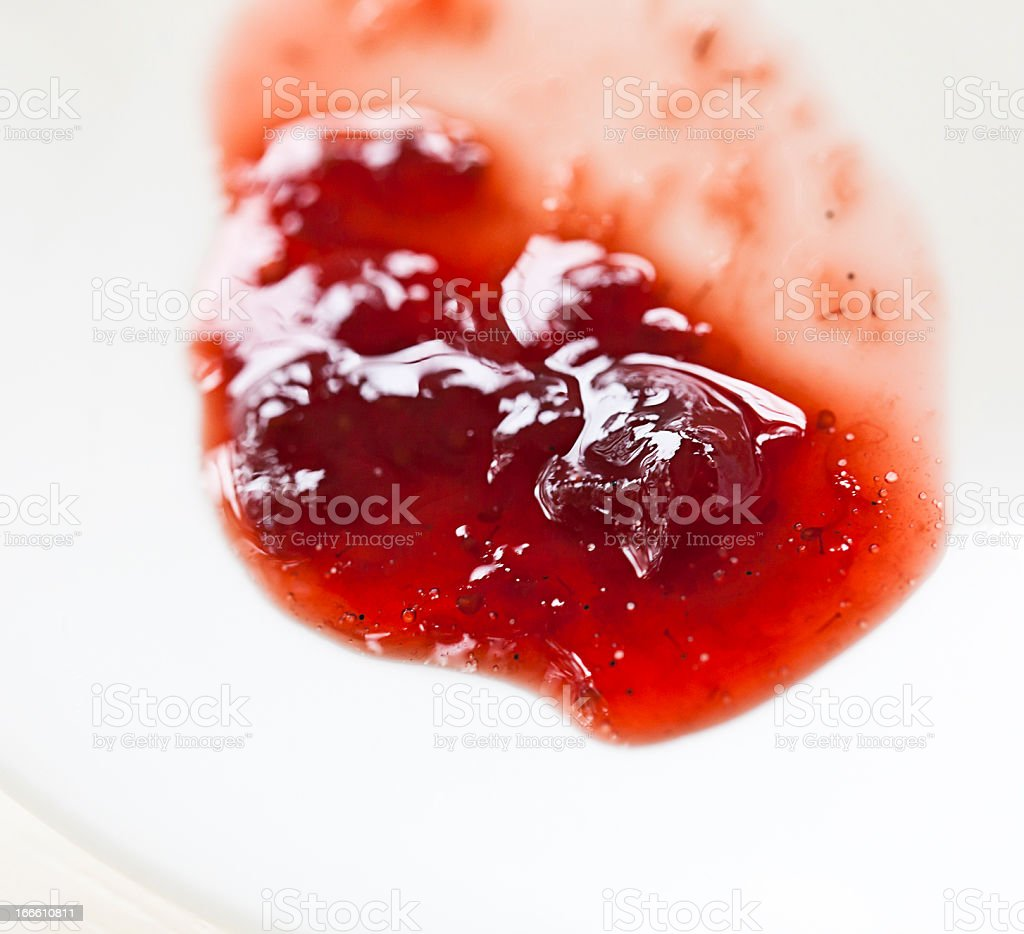 Strawberry Jam Test royalty-free stock photo