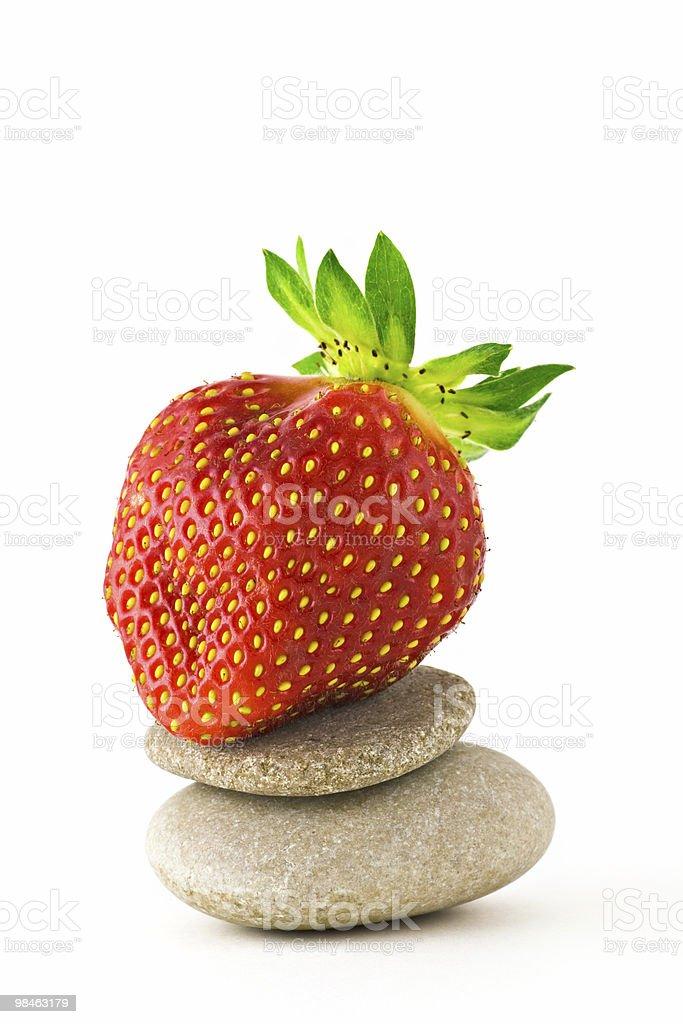 Strawberry like zen royalty-free stock photo