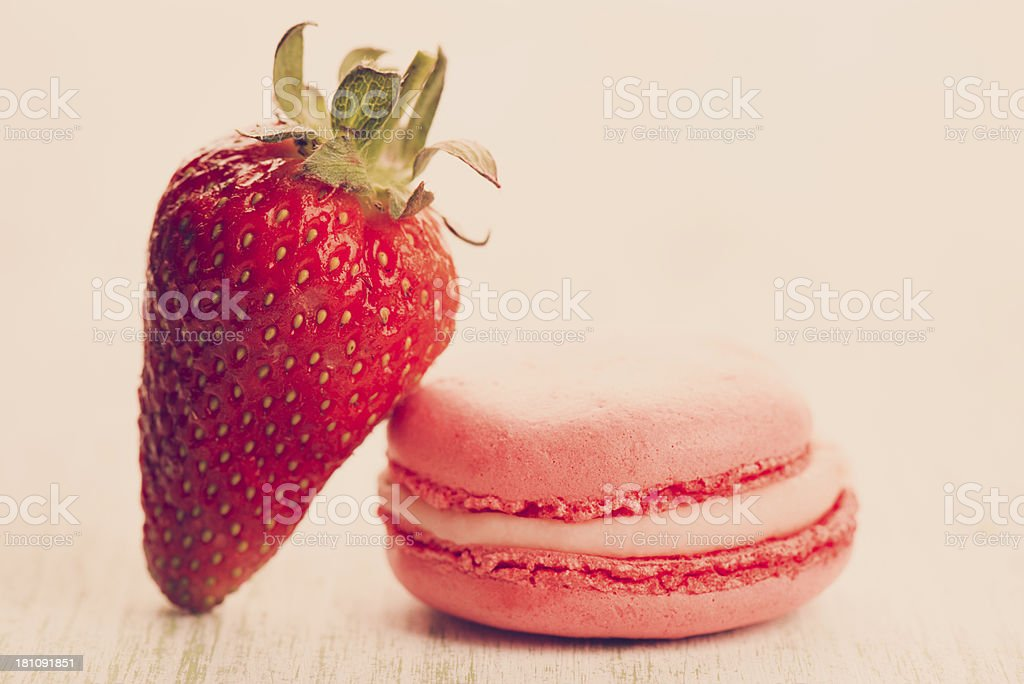 Strawberry Macaroons royalty-free stock photo