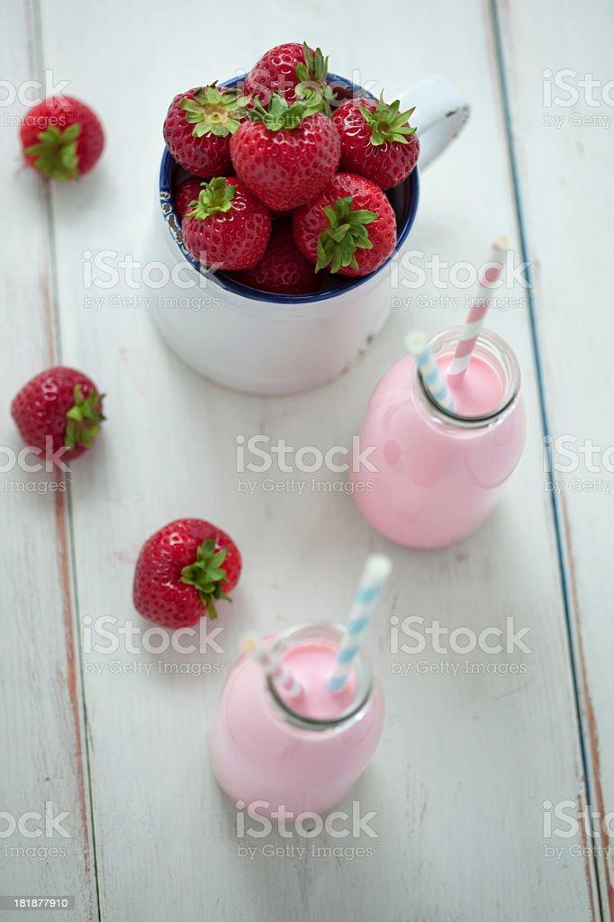 Strawberry Milkshake royalty-free stock photo