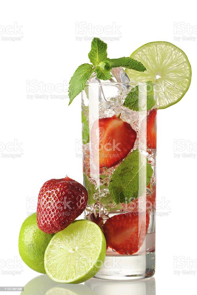 Strawberry mojito cocktail royalty-free stock photo