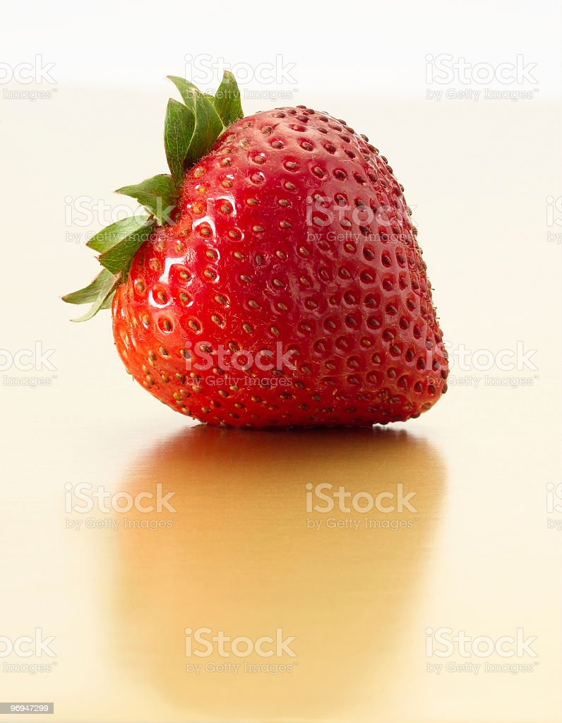 Strawberry on Gold royalty-free stock photo