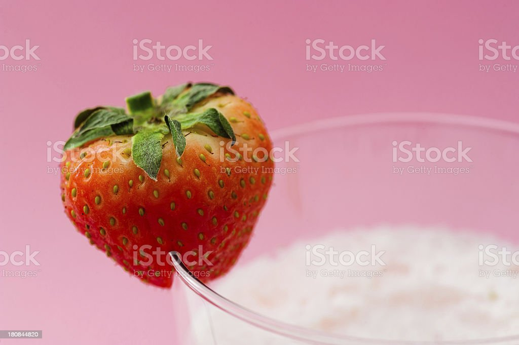 Strawberry on Pink royalty-free stock photo