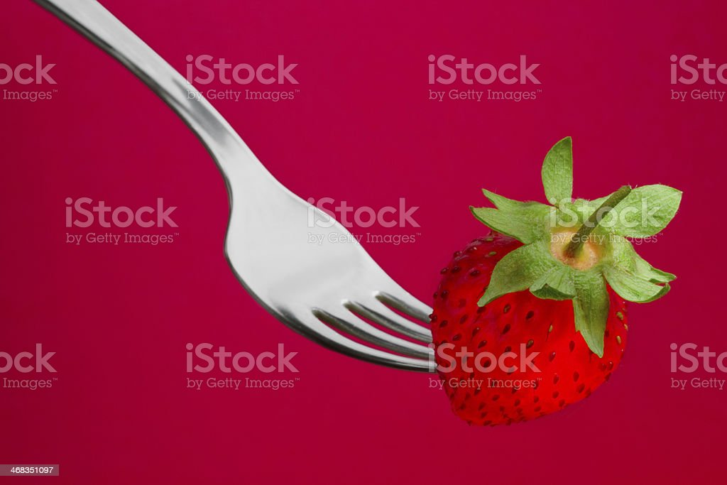 strawberry on the red royalty-free stock photo