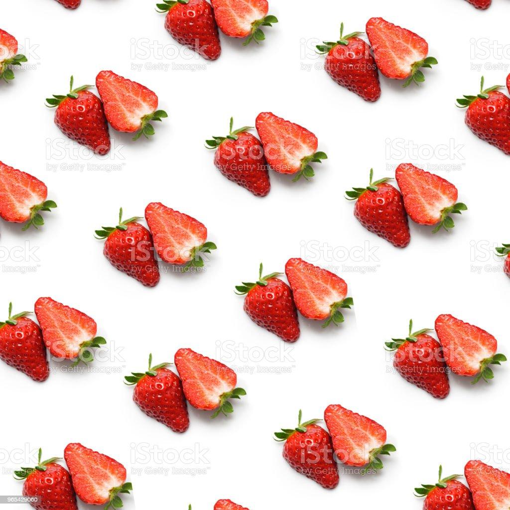 Strawberry on White zbiór zdjęć royalty-free