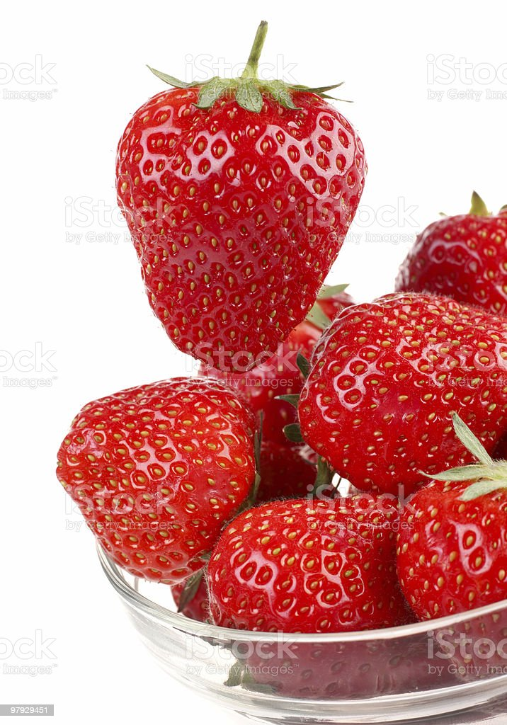 Strawberry on white royalty-free stock photo