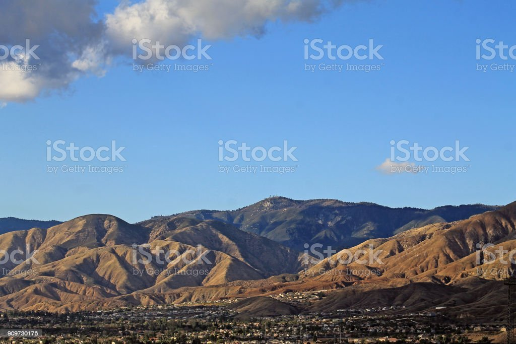 Strawberry Peak San Bernardino View of Strawberry Peak and the San Bernardino mountains California Stock Photo
