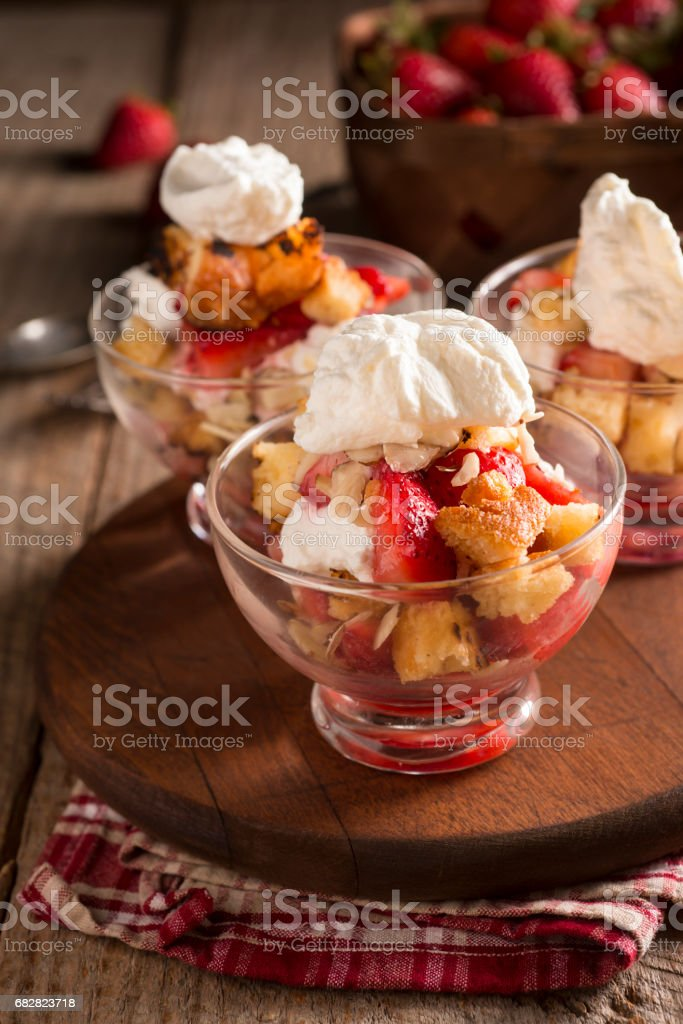 Strawberry Parfait Lizenzfreies stock-foto