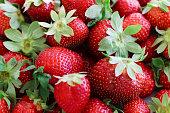 An abundance of strawberries.