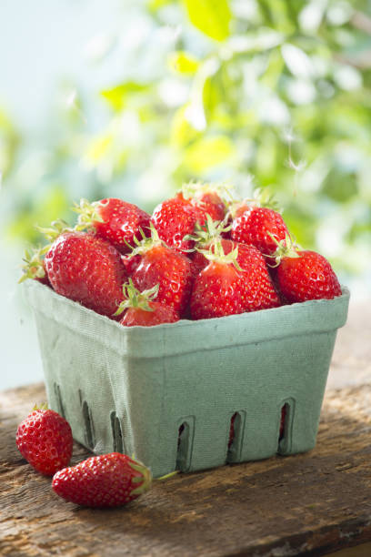 Strawberry Strawberry fruit carton stock pictures, royalty-free photos & images