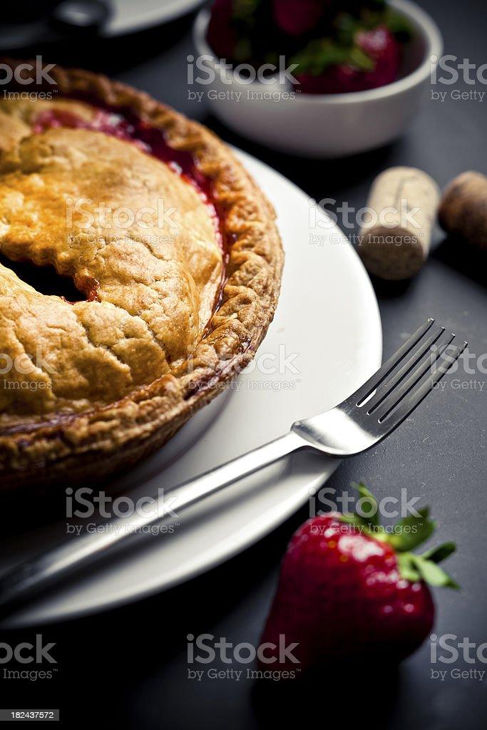 Strawberry Pie stock photo