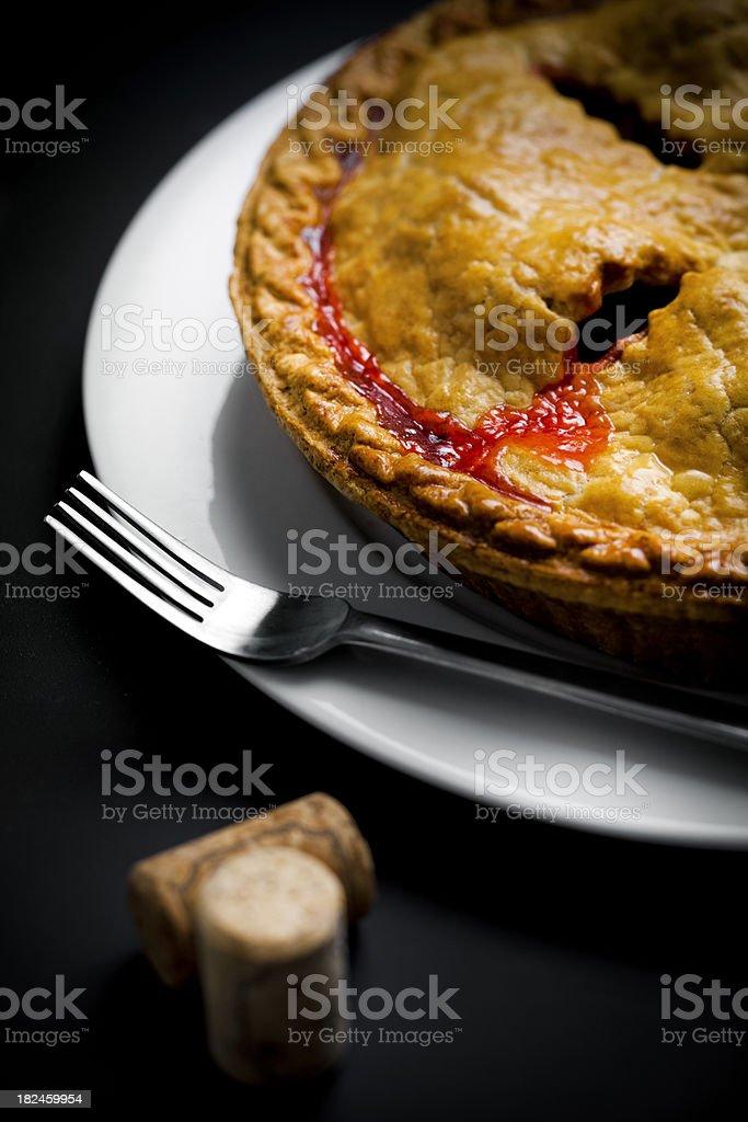 Strawberry Pie royalty-free stock photo